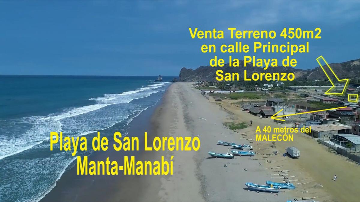 el terreno en la mejor de playa de manta con vista al mar
