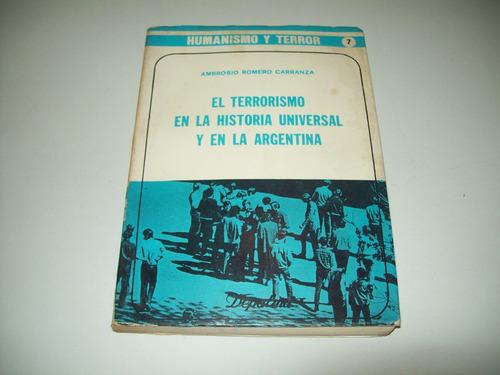 el terrorismo en la historia universal y en la arg carranza