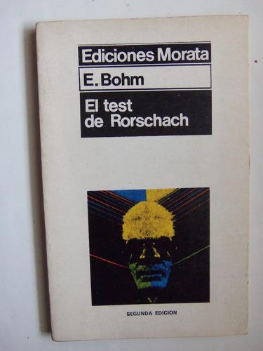 el test de rorscharch e. bohm ediciones morata