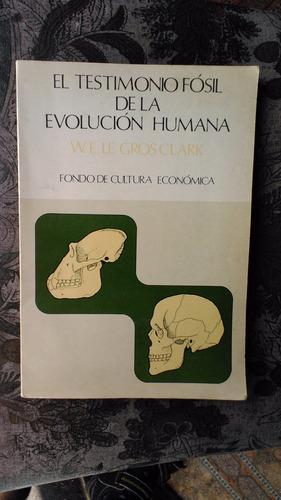 el testimonio fósil de la evolución humana w. le gros clark