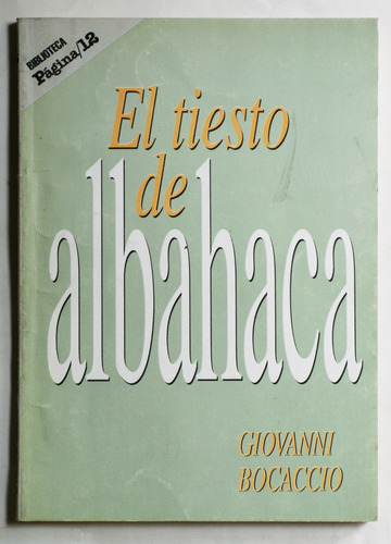 el tiesto de albahaca / giovanni bocaccio (ed. página 12)