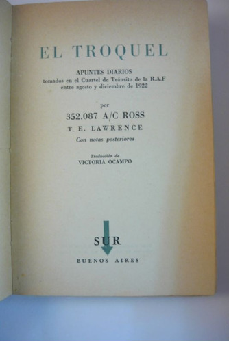 el troquel, t. e. lawrence, sur
