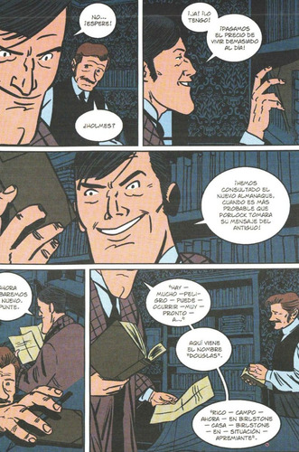 el valle del miedo - sherlock holmes - novela gráfica comic