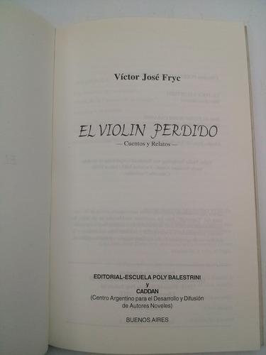 el violín perdido 1 premio narrativa caddan 1998
