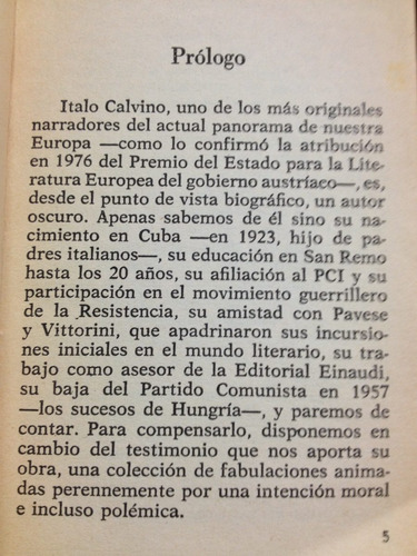 el vizconde demediado - italo calvino - bruguera - 1984