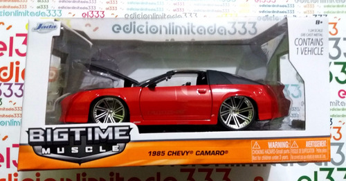 el333 1/24 chevy camaro t-top 85 clasico jada bigtime muscle