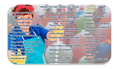 elabora productos de limpieza - 3000 formulas quimicas