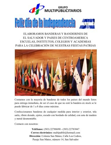 elaboración de banderas de el salvador y centroamerica