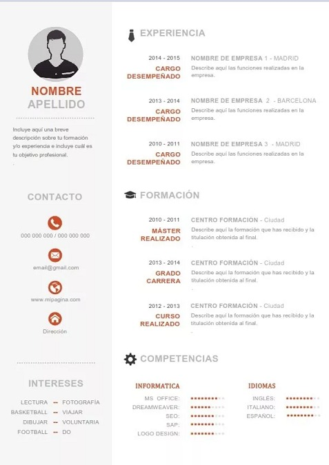 Elaboración De Curriculum - Hoja De Vida Síntesis Curricular - Bs. 2 ...