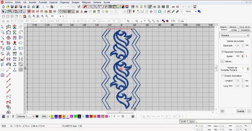 elaboración de diseños. para maquinas bordadoras