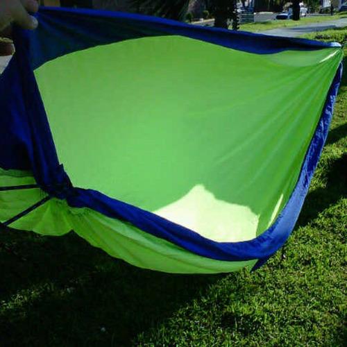 elaboracion de hamacas camping táctica excursión playa