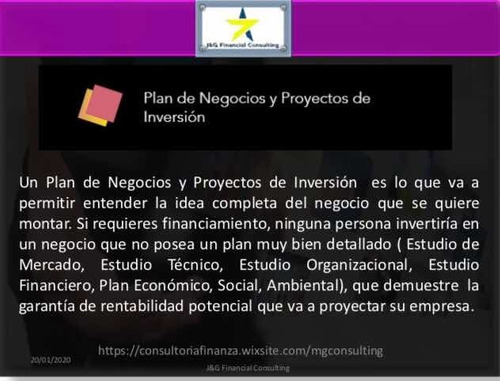 elaboración de planes de negocio, proy inversion, exchange