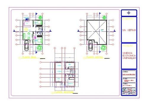elaboración de planos 2d y proyecto arquitectónico autocad