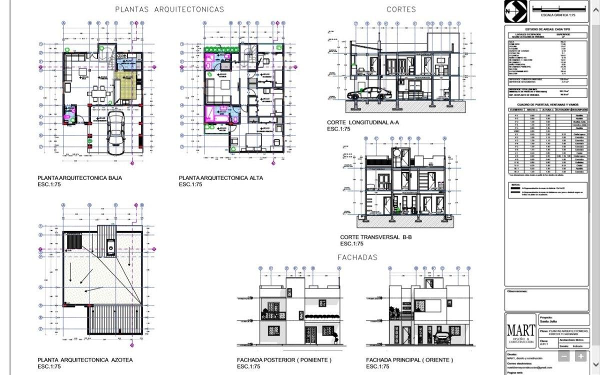 Elaboracion de planos arquitectonicos en for Plantas arquitectonicas de casas