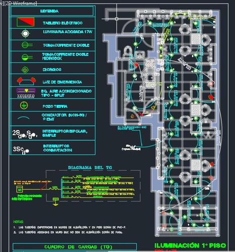 elaboración de proyectos inst. eléctricas:oficina,tienda,etc