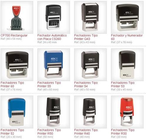 elaboración de sellos en aparatos marca colop