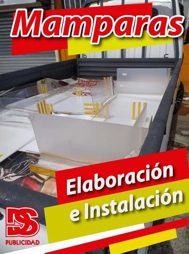 elaboración e instalación de mamparas acrílicas