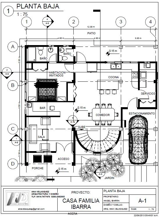 Elaboracion planos de arquitectura autocad revit 3dmax for Planos de arquitectura