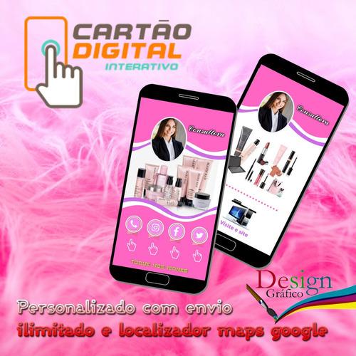 elaboração de cartão de visitas digital interativo