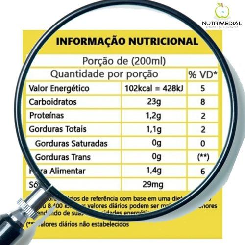 elaboração de tabela nutricional