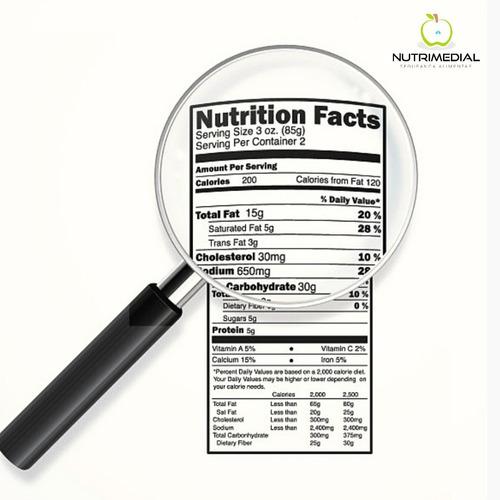 elaboração de tabela nutricional / informação nutricional