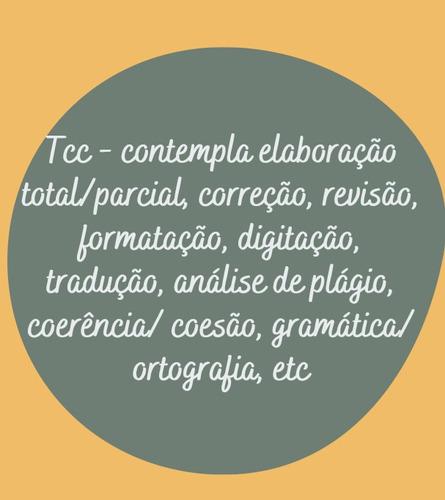 elaboração de tcc, formatação, correção, revisão, etc