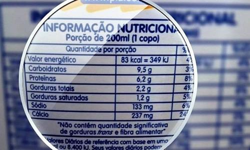 elaboração tabela nutricional