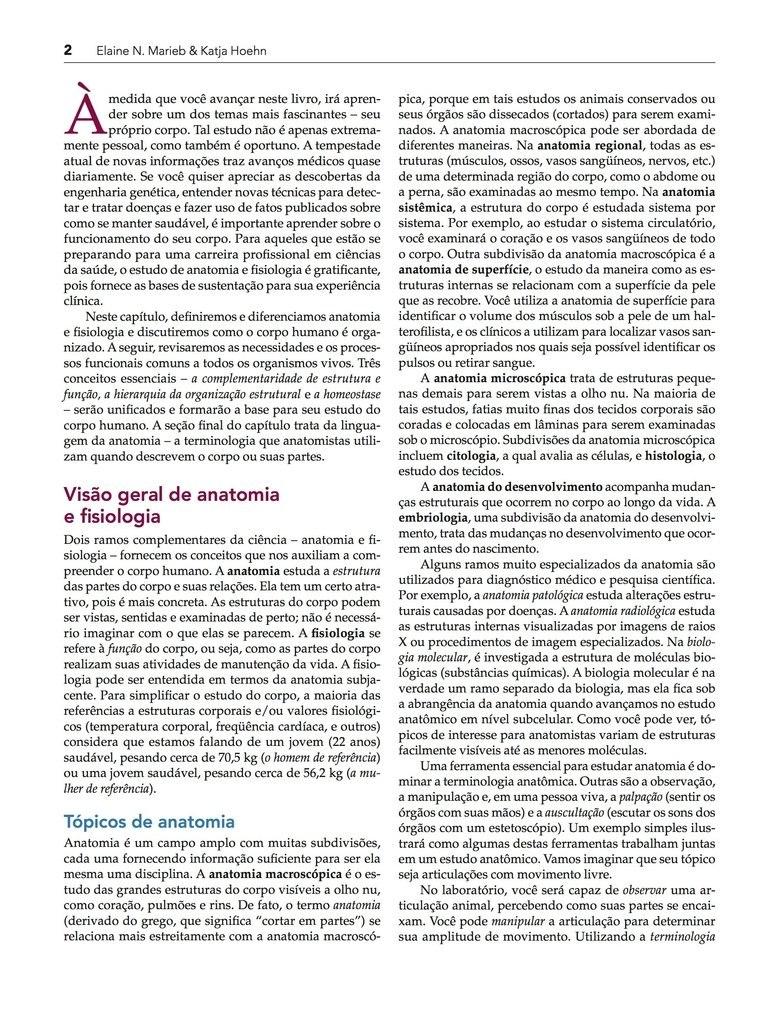 Elaine Marieb - Anatomia E Fisiologia, 3ª Edição Em Pdf Pdf - R$ 65 ...