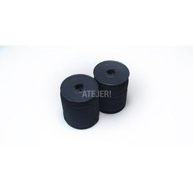 Elástico 5mm X 100 Metros Para Barbijos Y Tapaboca Negro