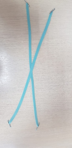 elástico chato 33 cm - c/ ponteira metal pct 100