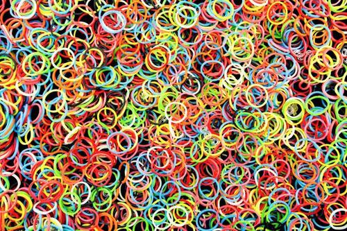 elastico de silicone colorido pulseira - kit 2.160 liguinha