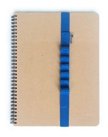 elástico escolar para caderno a4 6 divisórias azul