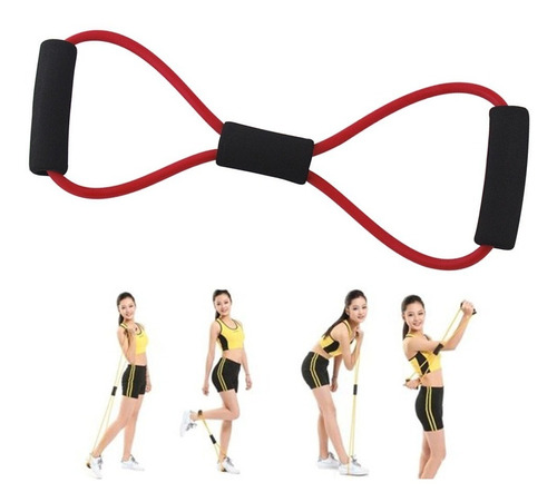 elástico extensor musculação fitness
