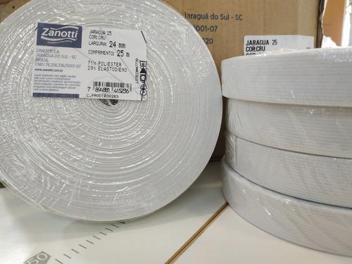 elastico plano 24 mm blanco zanotti jaragua 25 x 25 metros