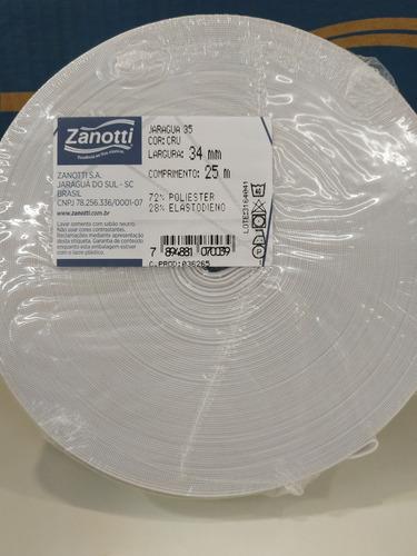 elastico plano 34 mm blanco  zanotti jaragua 35 x 25 metros