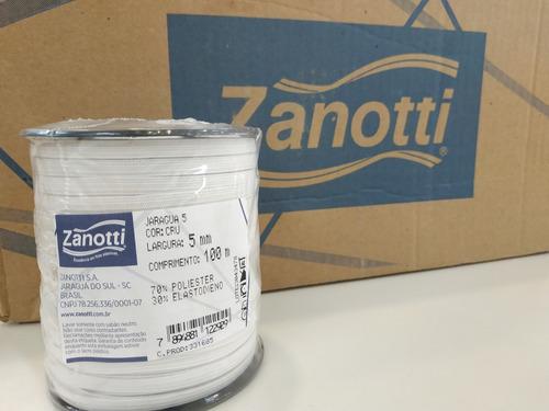 elastico plano 5 mm blanco zanotti jaragua 5 x 100 metros