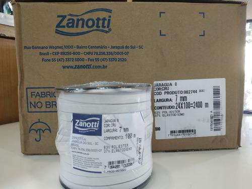 elastico plano 7 mm blanco zanotti jaragua 8 x 100 metros