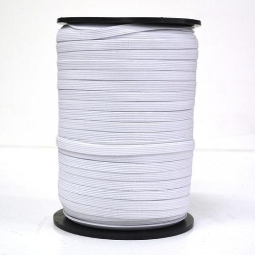 elastico plano fino calidad para tapa boca barbijo x 100 mts