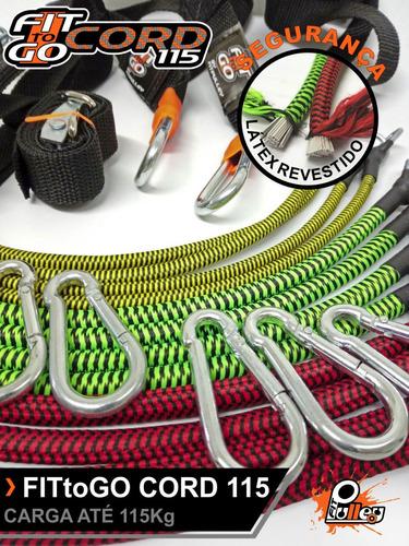 elásticos fittogo cord 115 s/ dinamômetro revestido (seguro)