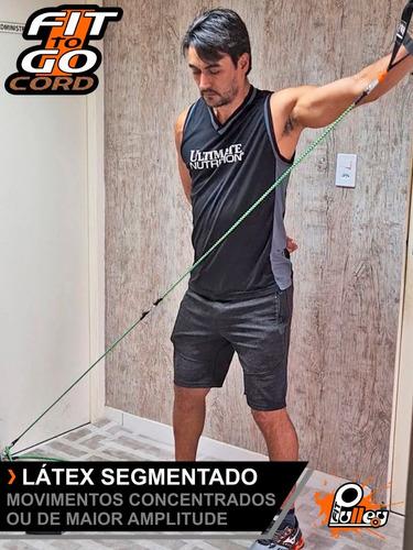 elásticos para exercícios fittogo cord 25 revestido (seguro)