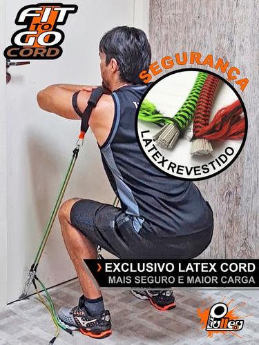 elásticos para exercícios fittogo cord 80 revestido (seguro)