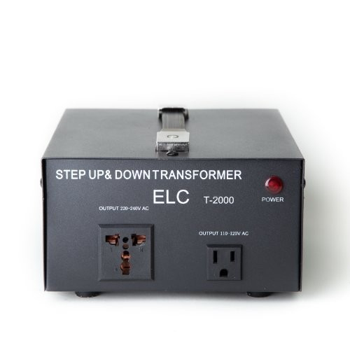 elc t-2000 2000-watt voltage converter transformer - step u