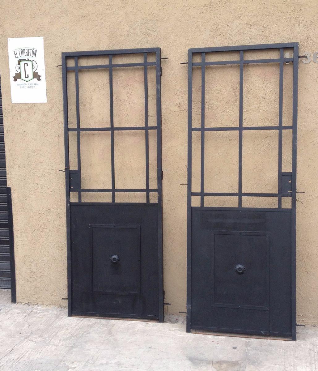 Elcarreton Puerta 1hoja De Hierro Vidrio Repartido 70x200
