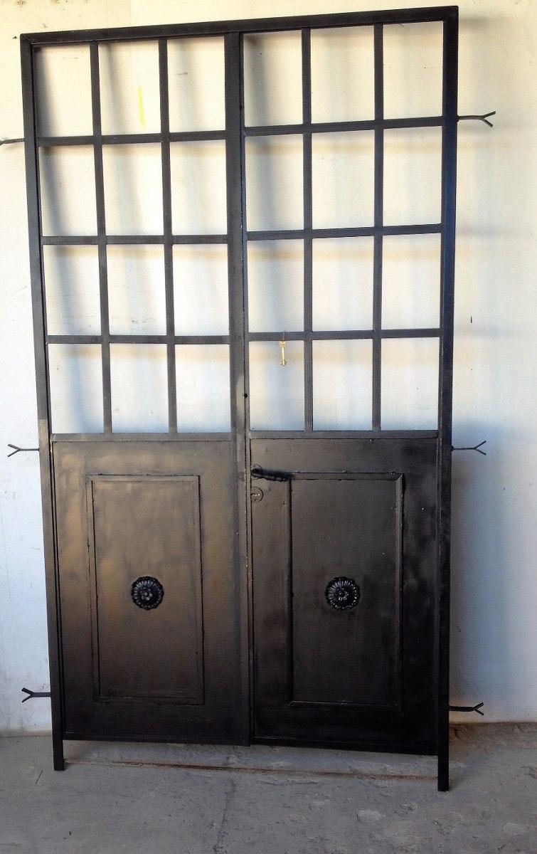 Precio puertas de hierro simple puertas de hierro forjado de hierro precios de puertas de - Puertas de hierro para patios ...