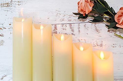 eldnacele moving wick sin llama velas encendidas con c...