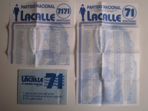 eleccion interna 1999 partido nacional lacalle ramírez ramos