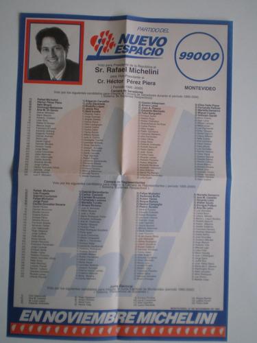 elecciones 1994 partido nuevo espacio lista 99000 michelini