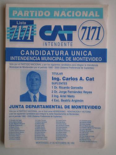 elecciones municipales 1994 partido nacional cat lista 7171