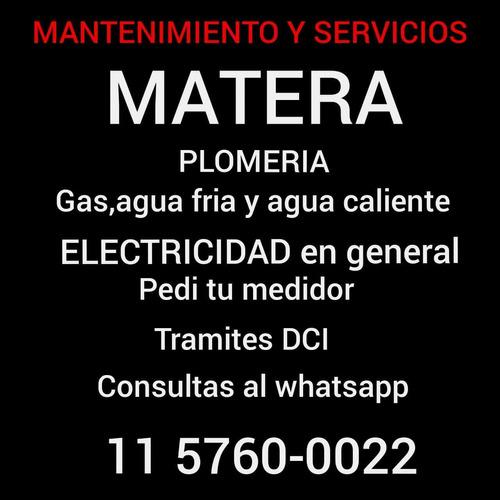 electicista plomeria y gas natural mantenimientos