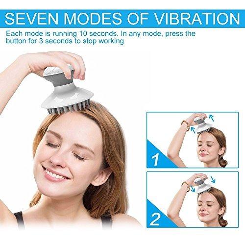 eléctrica masajeador de cabeza pelo piel cabelludo alivio d